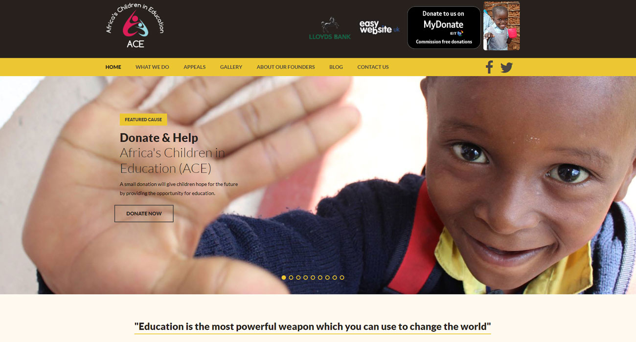 Charity Website Design and Web Development